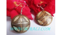 Balinese Wooden Earring Hand Craft