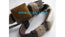 Craft Stone Leather Bracelets