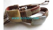 Leather Coral Bracelets