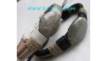 Original Stone Leather Bracelets