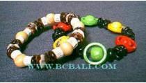 Bali Wood Beads Bracelets