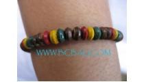 Bead Wood Bracelets Rasta