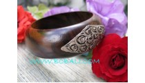 Black Wood Bangle Painting
