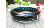 Black Wooden Bangle