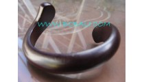 Black Wooden Bangles Jewelry