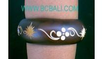 Casual Bracelets Wooden Motif