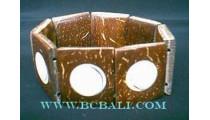 Coco Wood Bracelets Shells
