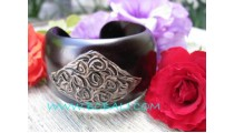 Large Black Wooden Bangles