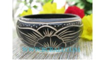 Medium Wooden Bangles Carved