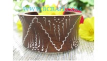 Sono Wooden Bangle Painted