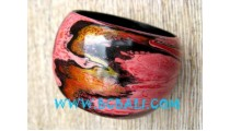 Wooden Bangle Painted For Fashion