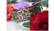 Wooden Hand Painted Bangle Square