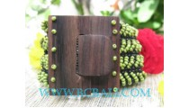 Bead Bracelet Buckle Wood