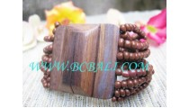 Bead Wooden Buckle Bracelet