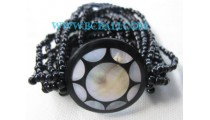 Beaded Resin Shell Bracelets