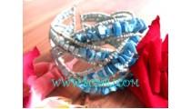 Blue Stone Bead Bracelets