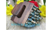 Bracelet Bead With Buckle Wood