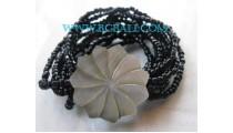 Carving Shell Bead Bracelets
