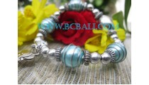 Elastic Bead Bracelets Steel
