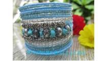 Large Bead Bracelet Turquoise