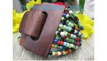 Mix Color Bead Buckle Bracelet