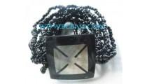Shell Resin Bead Bracelets