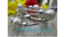 Spiral Beads Bracelets Stainless