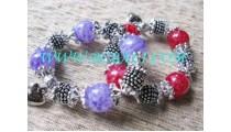 Steel Bead Ladies Bracelet