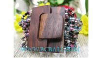 Unique Bracelet Bead With Wood Buckle
