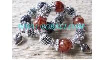 Unique Steel Bead Bracelet