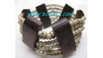 Wood Beads Bracelets Stretch