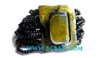 Wood Beads Bracelets Clasps