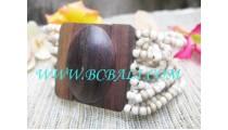 Wood Buckle Bead Bracelet