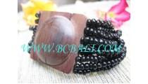 Wooden Buckle Bead Bracelet
