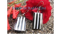Bali Steel Shell Earrings