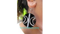 Black Shells Earrings Woman