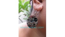 Earring Elegant Sand Resin Steel