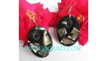 Earring Shell Resin Handmade