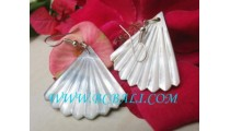 Earrings Shell Carvings