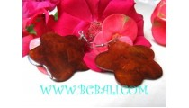 Flower Shape Shell Earrings