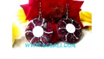 Resin Earring Mix Shell