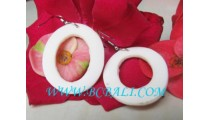 Shell Earrings Organic White