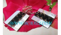 Square Shell Earrings