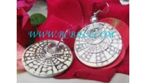 Stainless And Shell Earrings