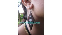 Accessories Earring Wooden Natural