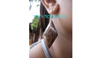 Accessories Ladies Wood Steel Earring