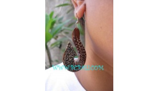 Animal Wooden Painted Earring