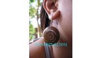 Antiq Wooden Earring Steel