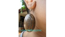 Bali Wooden Stainless Earring Fashion