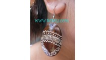 Bali Woods Painting Earring